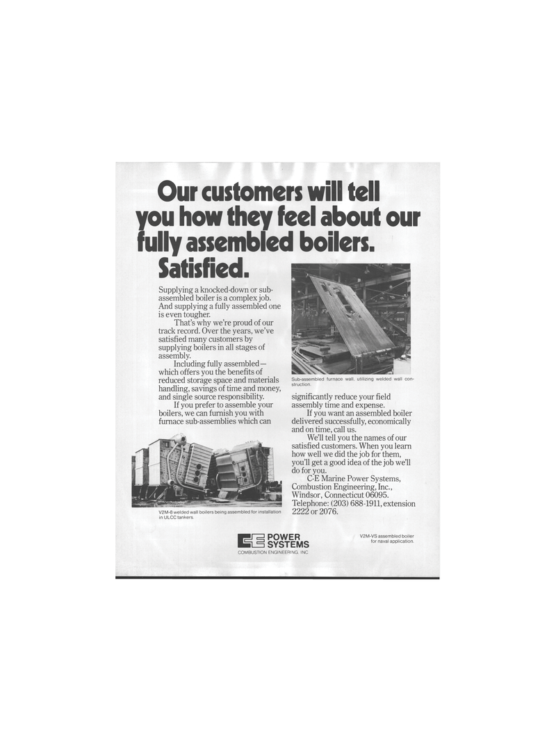 Maritime Reporter Magazine, page 10,  Mar 1978 Combustion Engineering Inc.