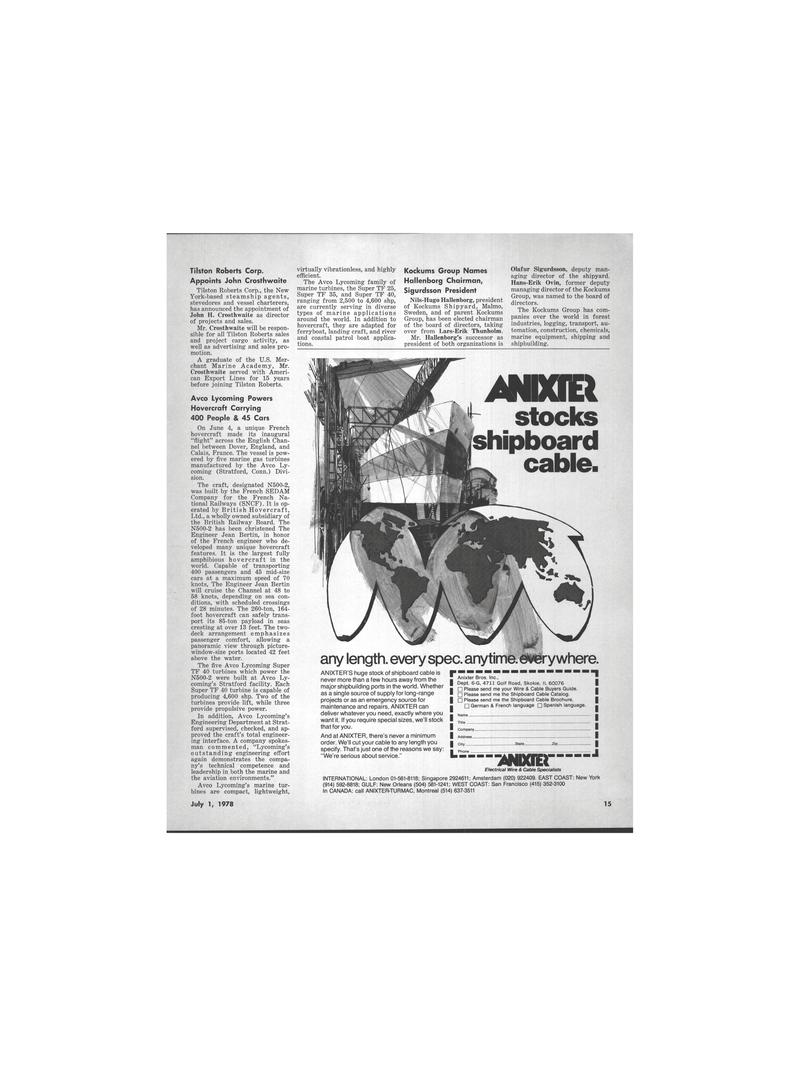 Maritime Reporter Magazine, page 11,  Jul 1978 Connecticut