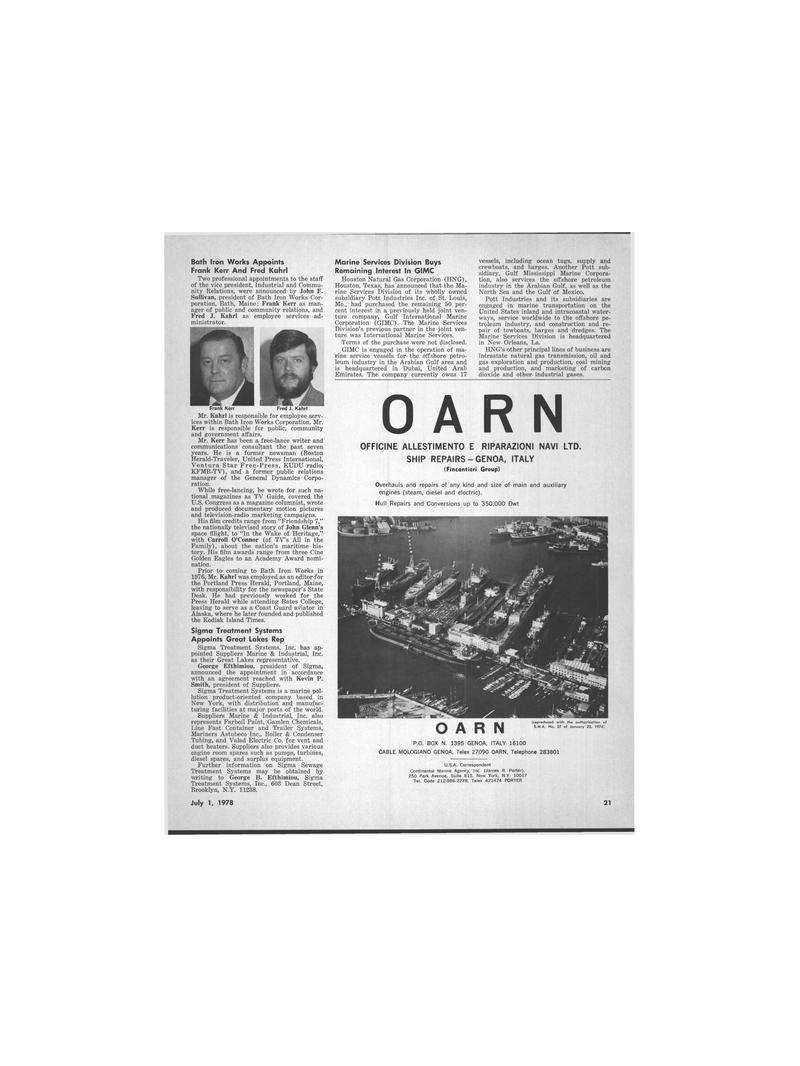 Maritime Reporter Magazine, page 17,  Jul 1978 the Portland Press Herald