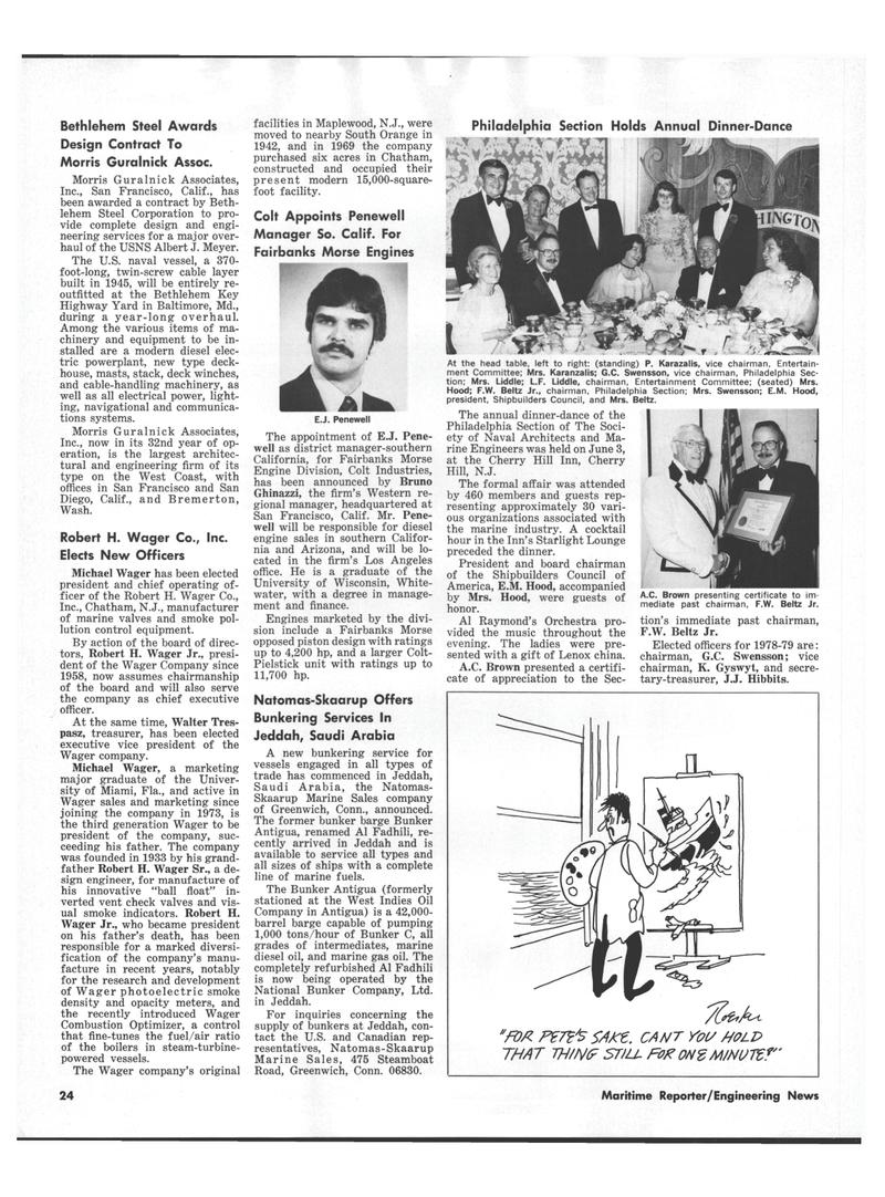 Maritime Reporter Magazine, page 22,  Jul 15, 1978