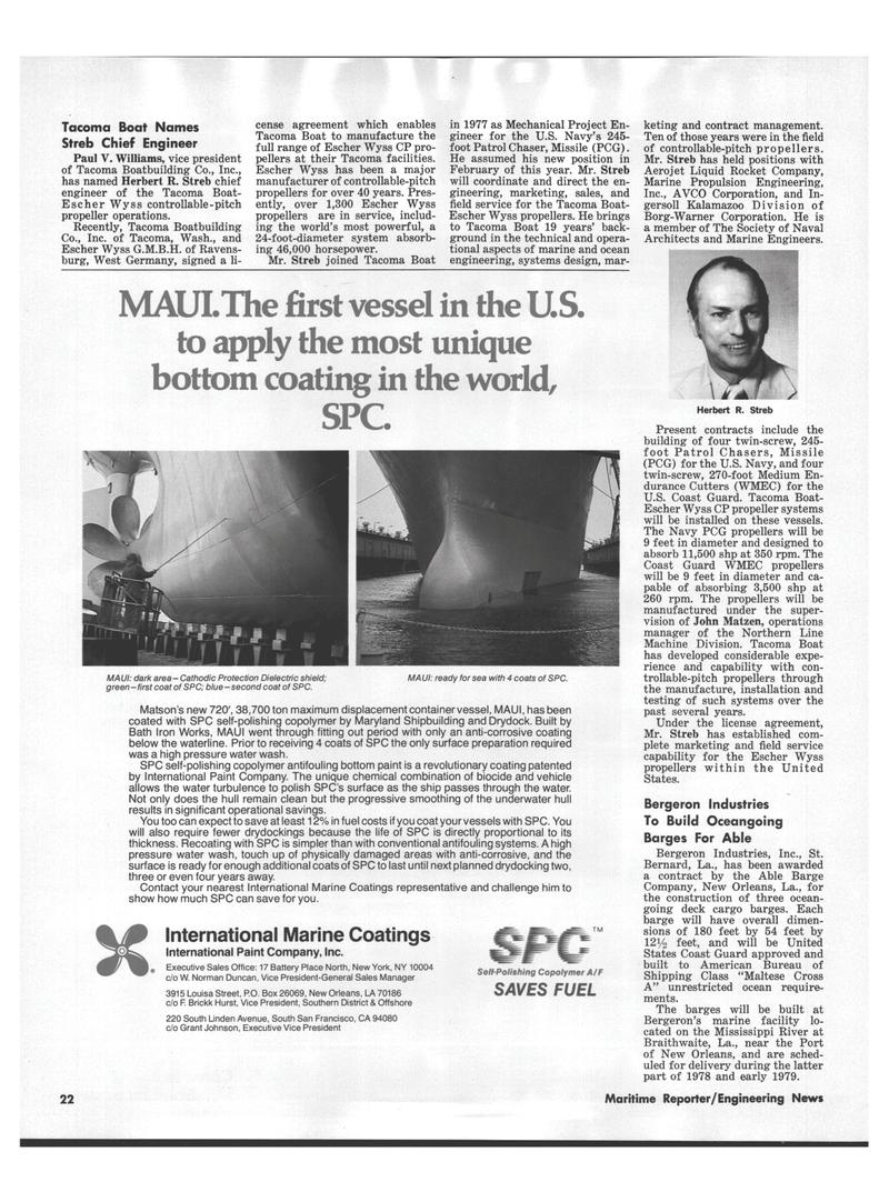 Maritime Reporter Magazine, page 18,  Aug 15, 1978 California
