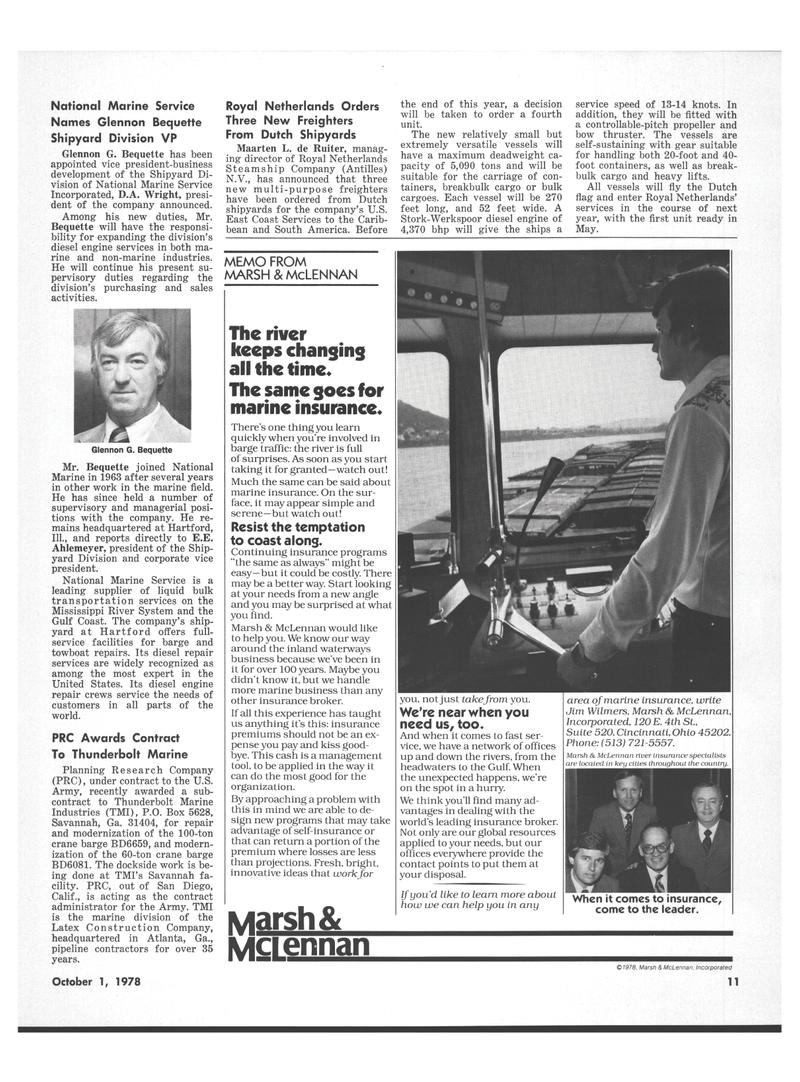 Maritime Reporter Magazine, page 9,  Oct 1978 California