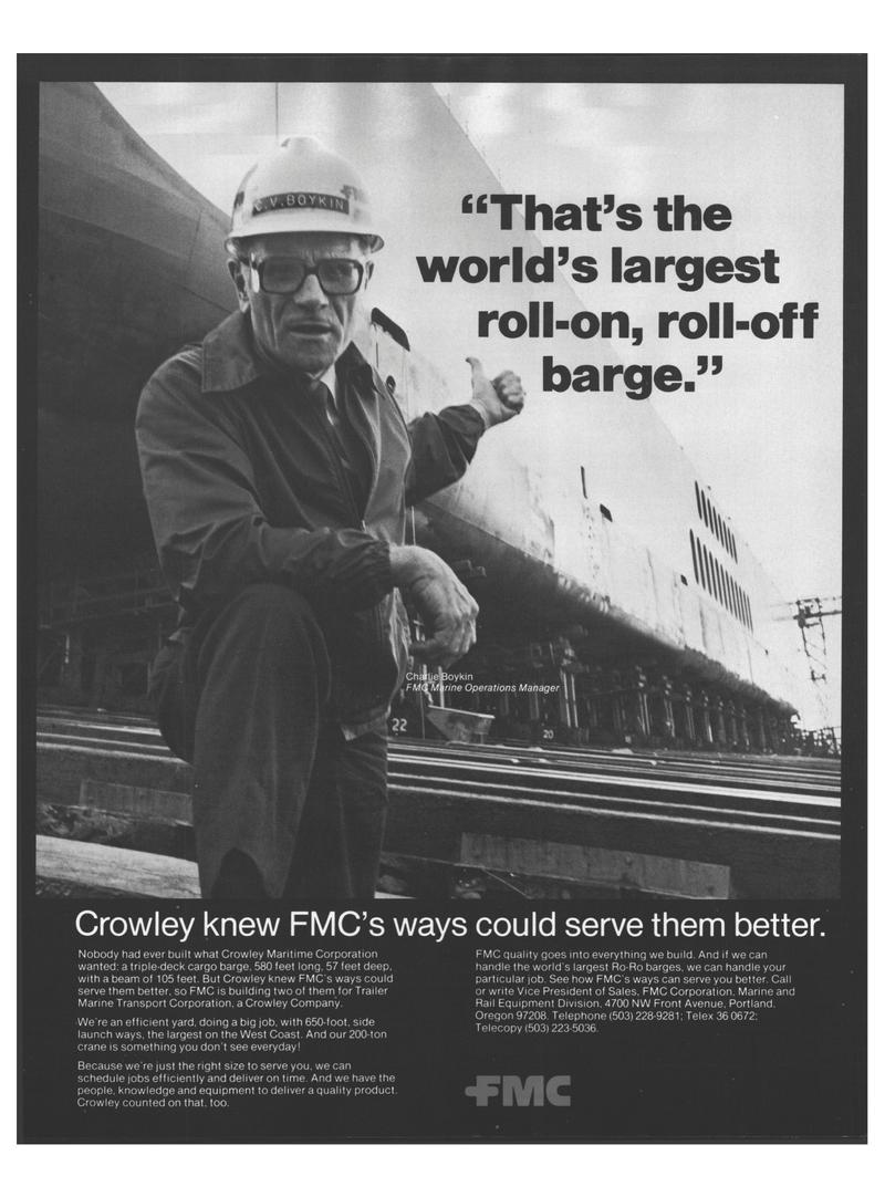 Maritime Reporter Magazine, page 4,  Oct 1978 Trailer Marine Transport Corporation