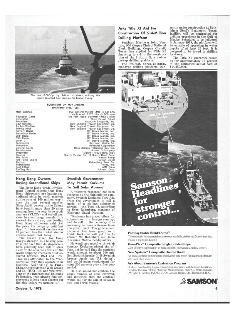 Maritime Reporter Magazine, page 7,  Oct 1978 British Columbia