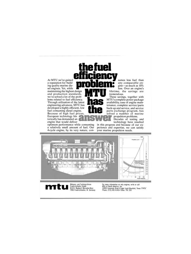 Maritime Reporter Magazine, page 14,  Jan 1980 MTU of North America Inc.