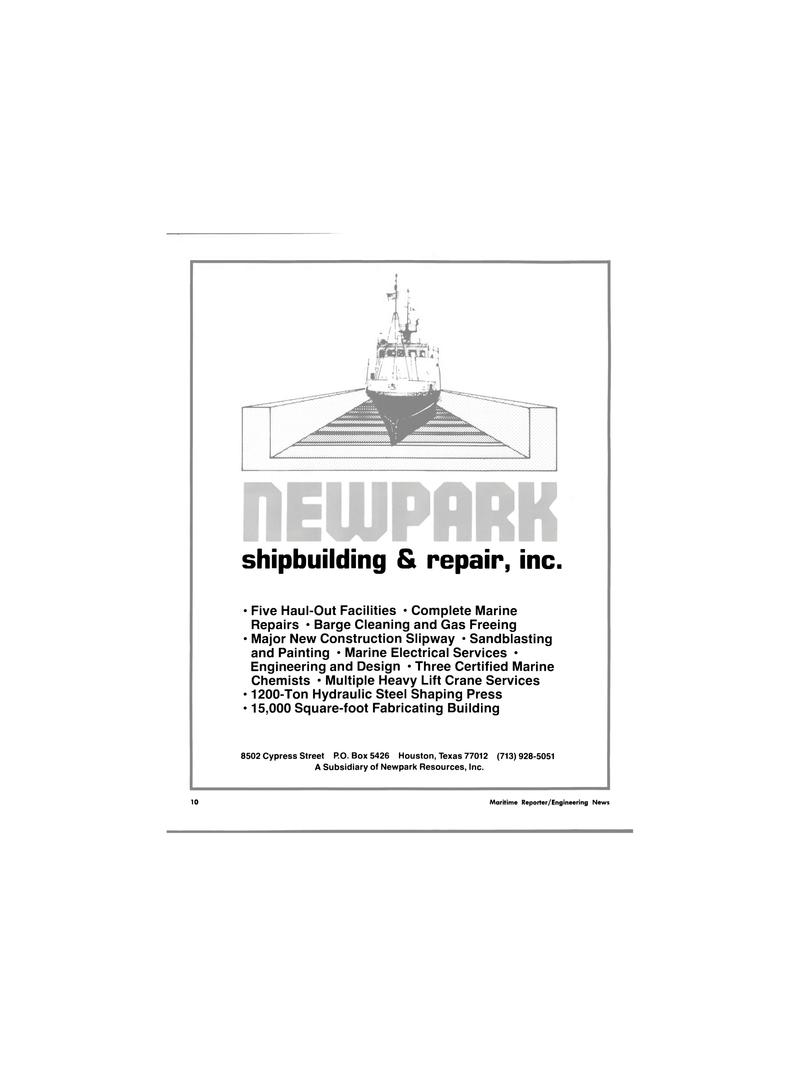 Maritime Reporter Magazine, page 6,  Jan 1980 Ton Hydraulic Steel Shaping Press