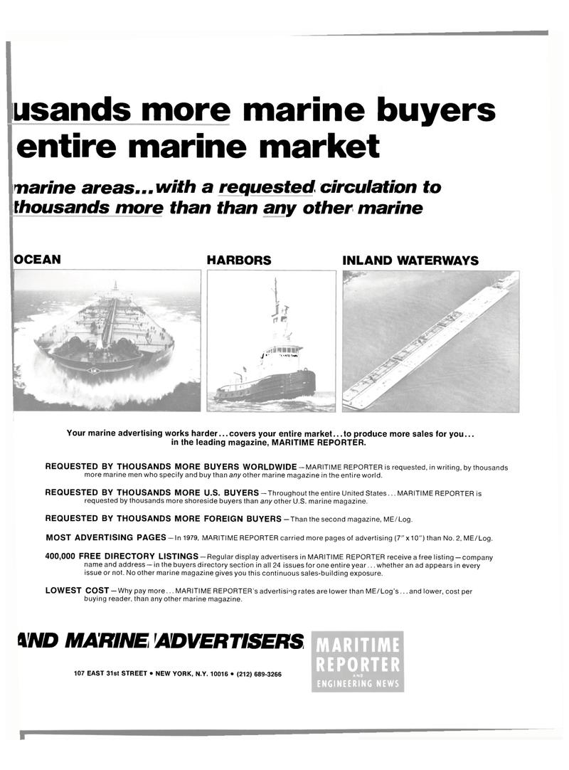 Maritime Reporter Magazine, page 21,  Mar 1980 marine buyers