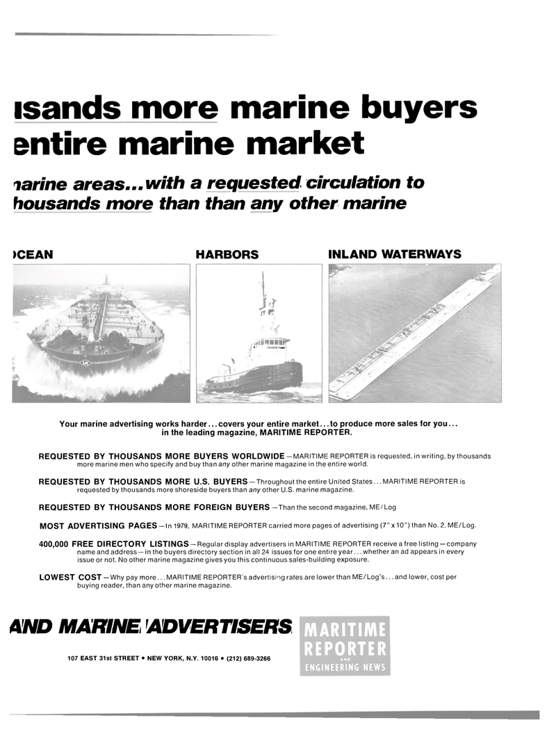 Maritime Reporter Magazine, page 23,  Mar 1980 shoreside buyers