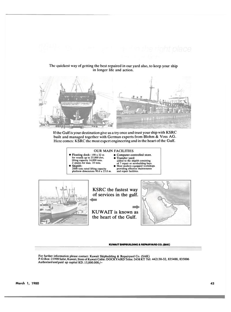 Maritime Reporter Magazine, page 35,  Mar 1980 Blohm & Voss AG