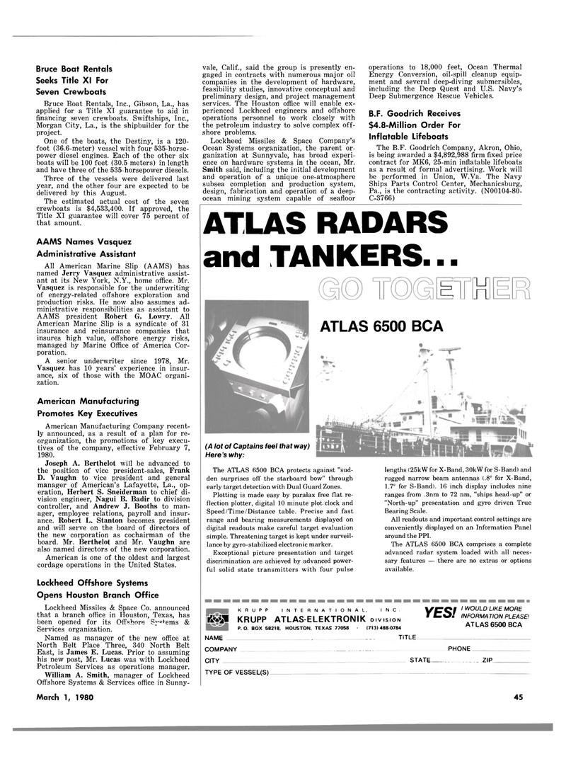 Maritime Reporter Magazine, page 37,  Mar 1980 Pennsylvania