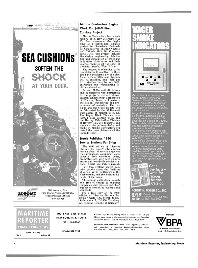 Maritime Reporter Magazine, page 2,  Mar 1980 Virginia