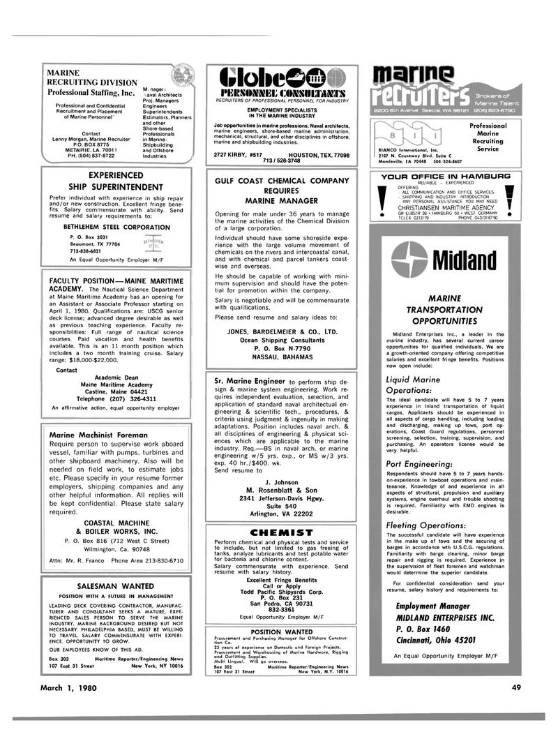 Maritime Reporter Magazine, page 43,  Mar 1980 California