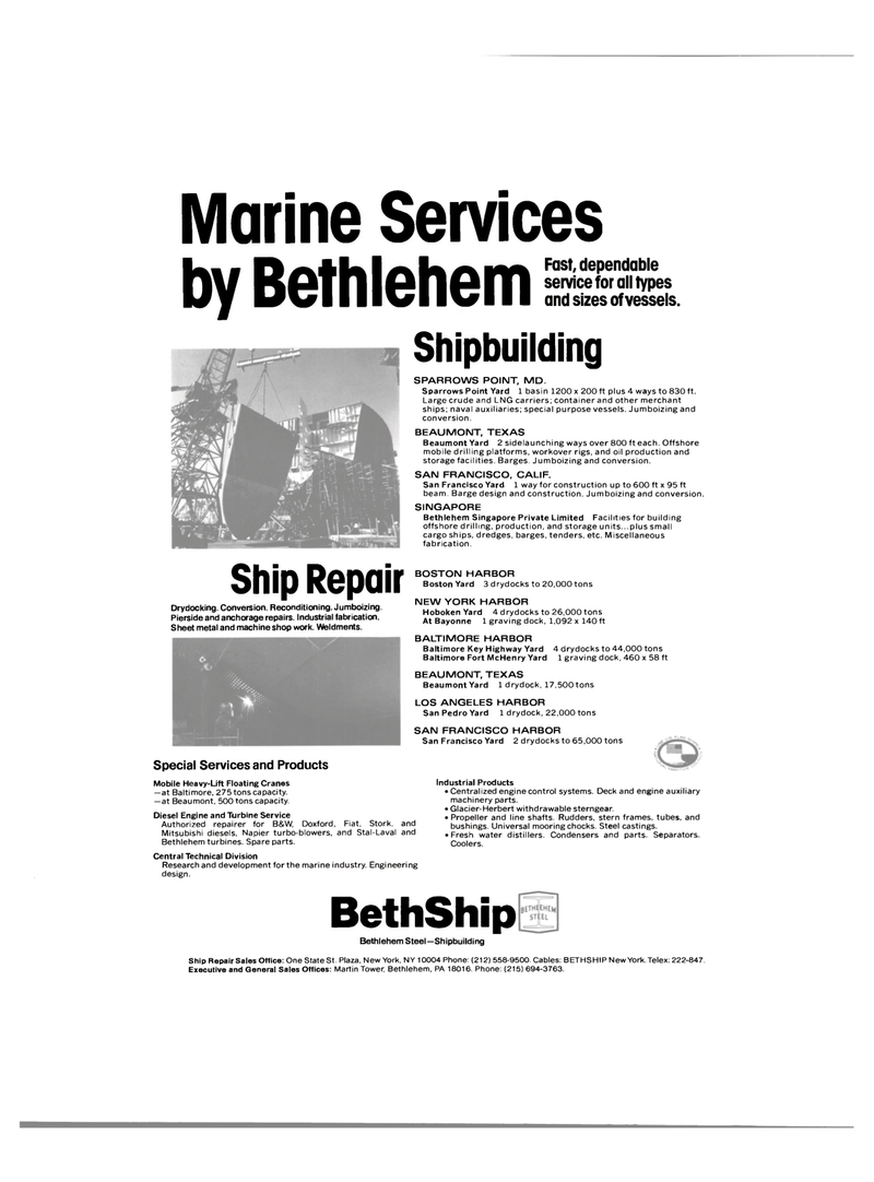Maritime Reporter Magazine, page 4th Cover,  Mar 1980 New York