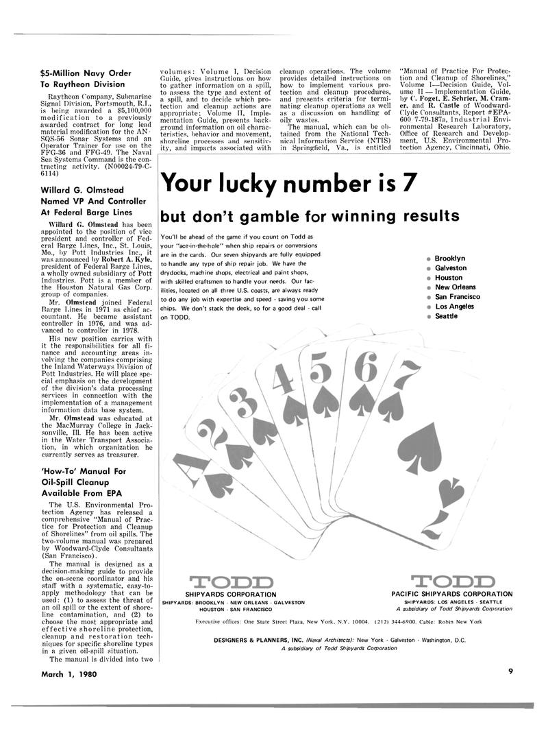Maritime Reporter Magazine, page 7,  Mar 1980 Ohio