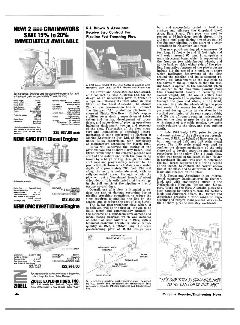 Maritime Reporter Magazine, page 40,  Mar 15, 1980
