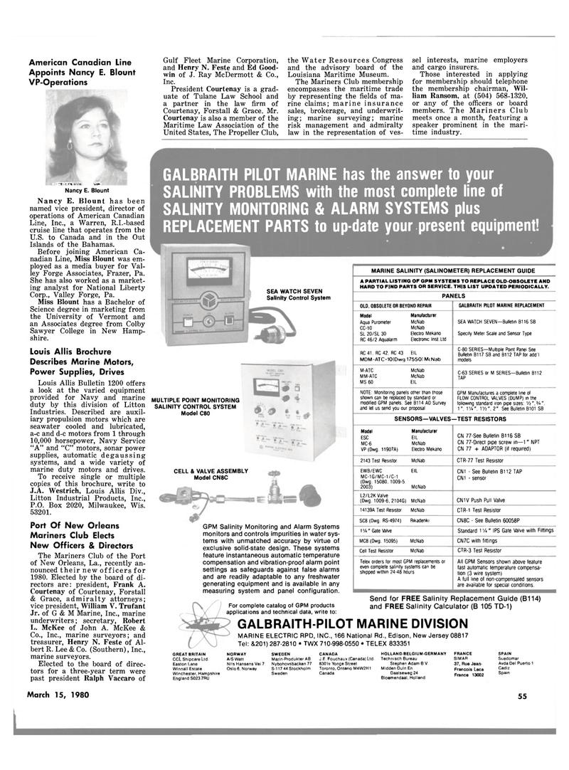 Maritime Reporter Magazine, page 49,  Mar 15, 1980