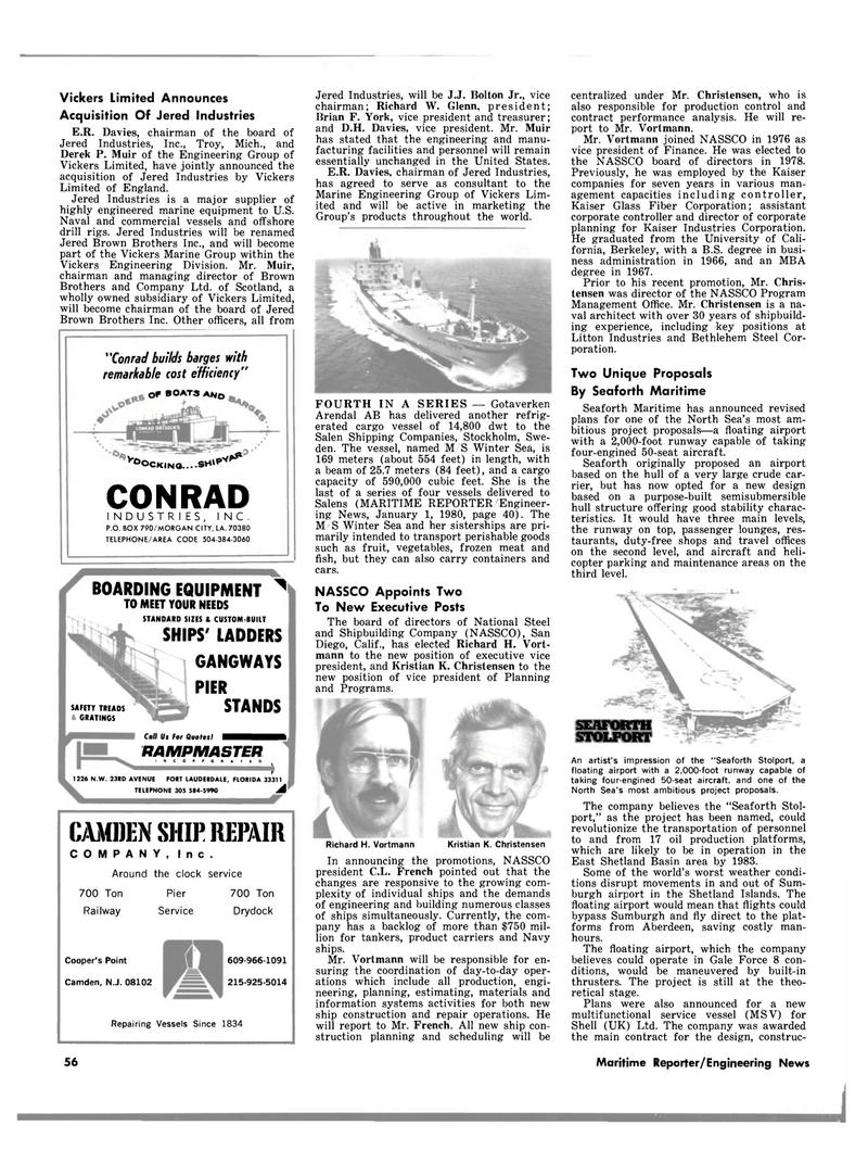 Maritime Reporter Magazine, page 50,  Mar 15, 1980