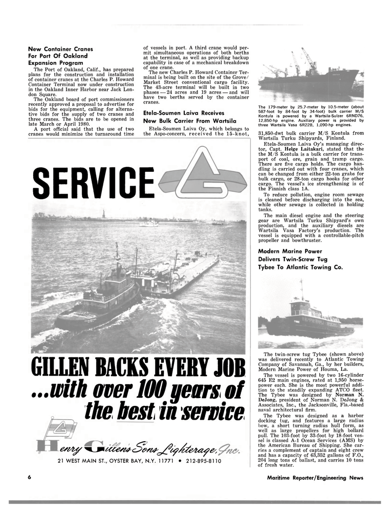 Maritime Reporter Magazine, page 4,  Mar 15, 1980