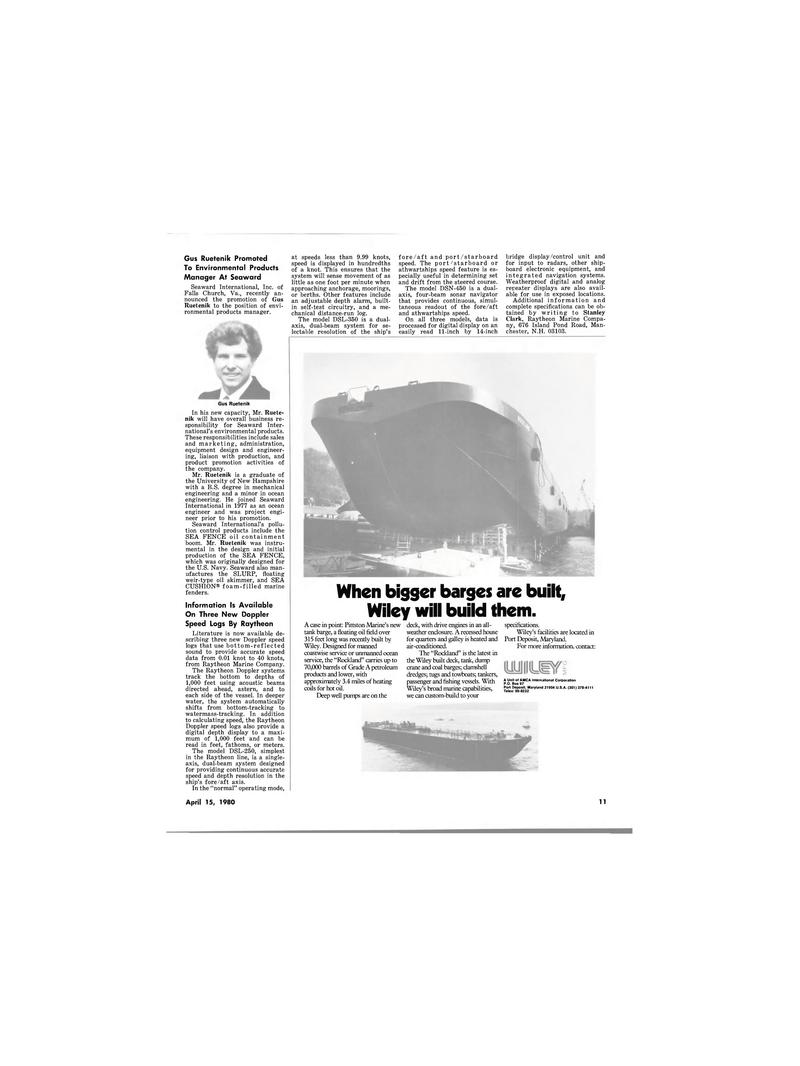 Maritime Reporter Magazine, page 9,  Apr 15, 1980 Stanley Clark
