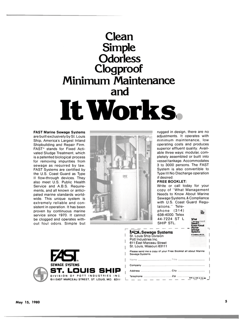 Maritime Reporter Magazine, page 3,  May 15, 1980