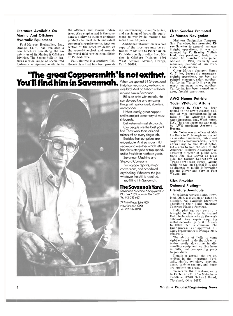 Maritime Reporter Magazine, page 6,  May 15, 1980