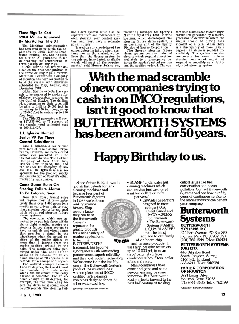 Maritime Reporter Magazine, page 11,  Jul 1980 Texas