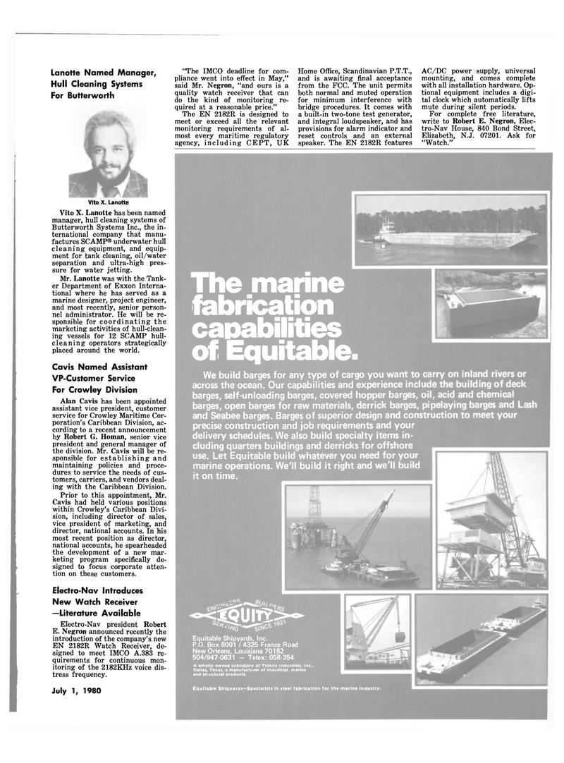 Maritime Reporter Magazine, page 37,  Jul 1980 Texas