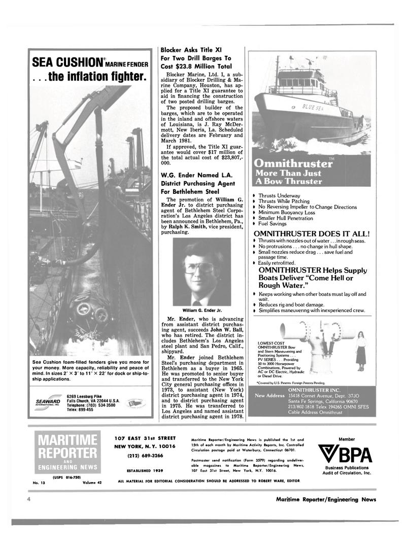 Maritime Reporter Magazine, page 2,  Jul 1980 Los Angeles