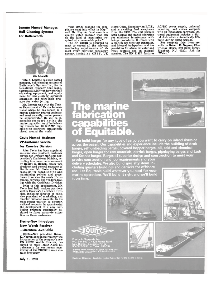 Maritime Reporter Magazine, page 39,  Jul 1980 Texas