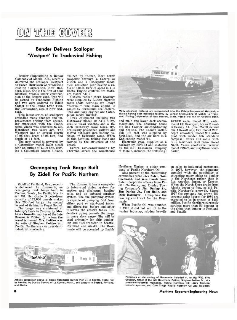 Maritime Reporter Magazine, page 6,  Jul 1980 M-16