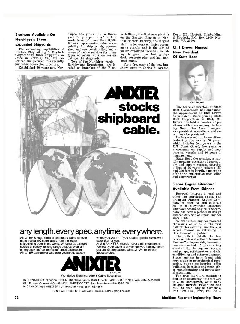 Maritime Reporter Magazine, page 20,  Jul 15, 1980 Pennsylvania