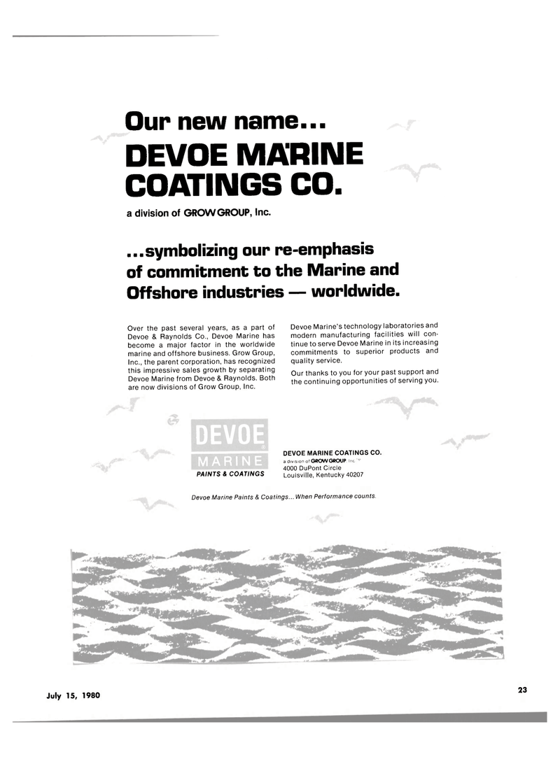 Maritime Reporter Magazine, page 21,  Jul 15, 1980 technology laboratories