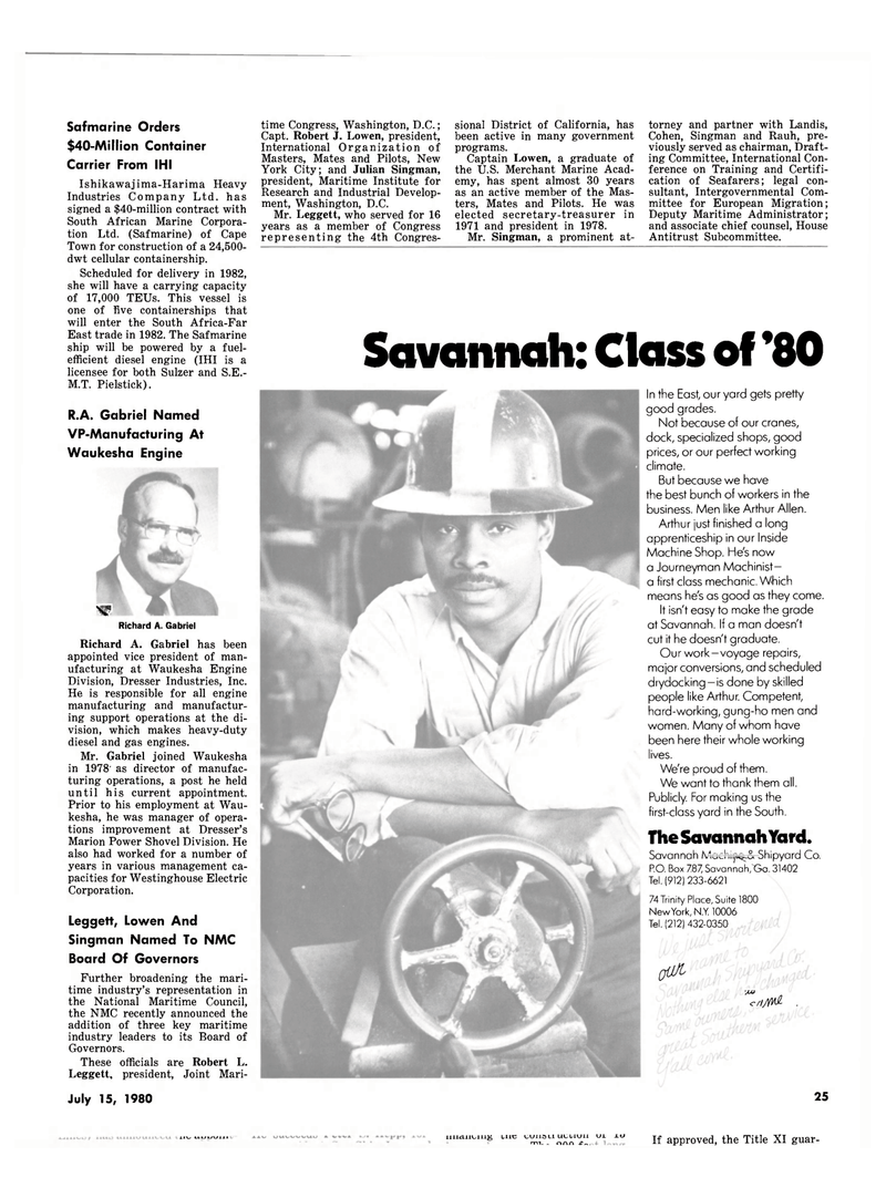 Maritime Reporter Magazine, page 23,  Jul 15, 1980 Marion Power Shovel