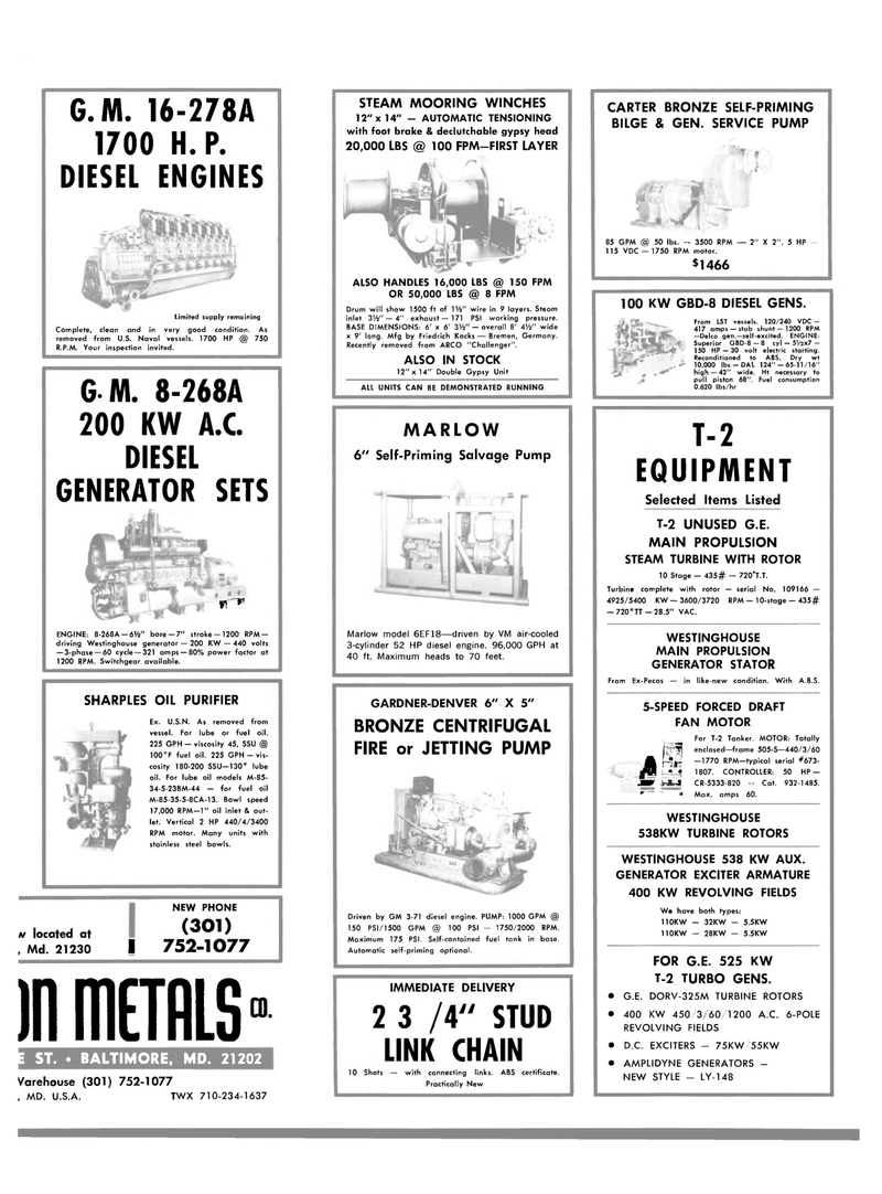 Maritime Reporter Magazine, page 37,  Jul 15, 1980 CARTER BRONZE