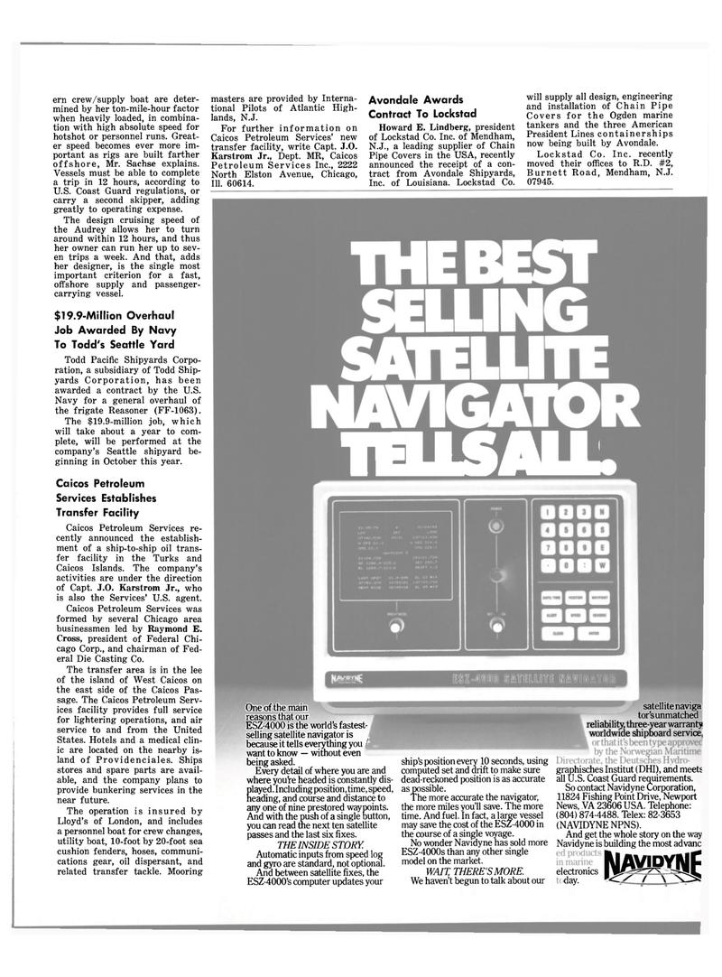 Maritime Reporter Magazine, page 43,  Jul 15, 1980 Raymond E. Cross