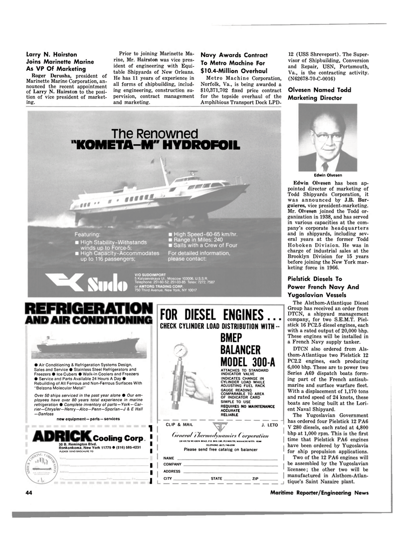 Maritime Reporter Magazine, page 4th Cover,  Jul 15, 1980 Brooklyn Division