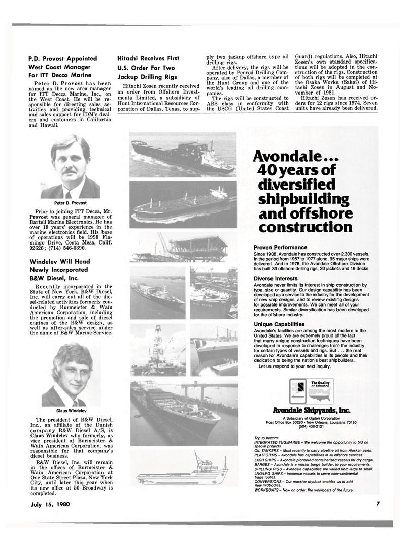 Maritime Reporter Magazine, page 5,  Jul 15, 1980 California