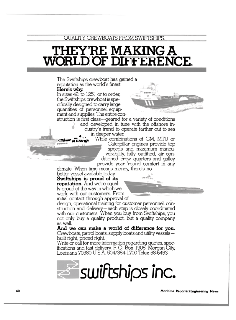 Maritime Reporter Magazine, page 38,  Aug 1980