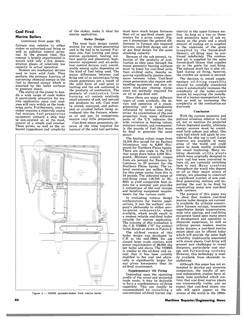 Maritime Reporter Magazine, page 42,  Aug 1980 supplementary oil-firing capability