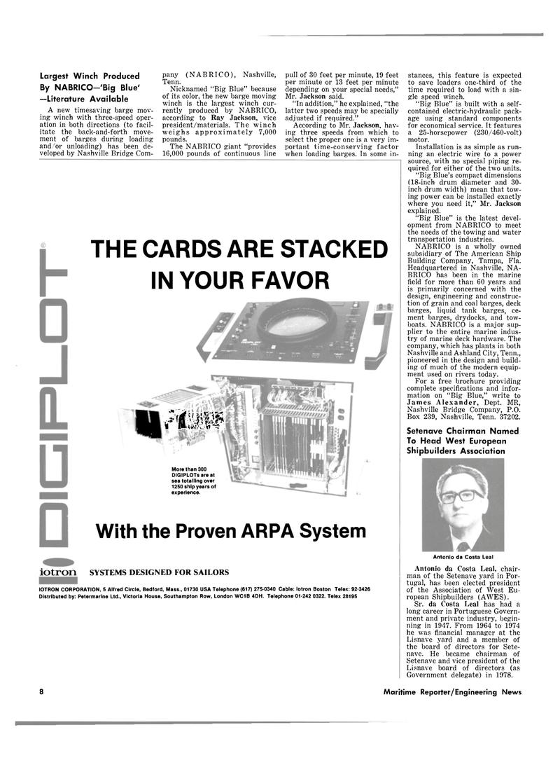 Maritime Reporter Magazine, page 6,  Sep 1980 James Alexander
