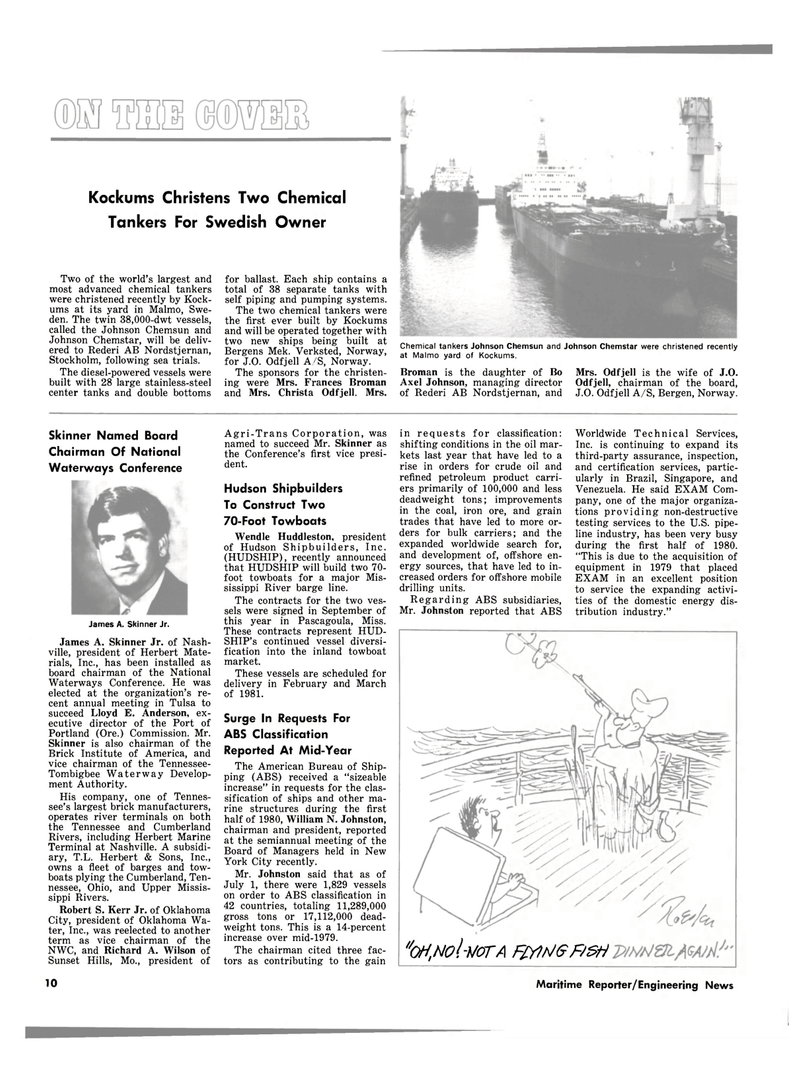 Maritime Reporter Magazine, page 8,  Oct 15, 1980 Oregon