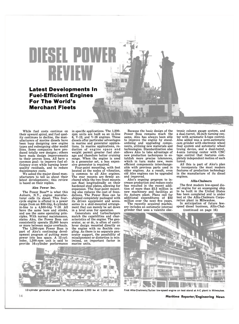 Maritime Reporter Magazine, page 12,  Oct 15, 1980 driven equipment