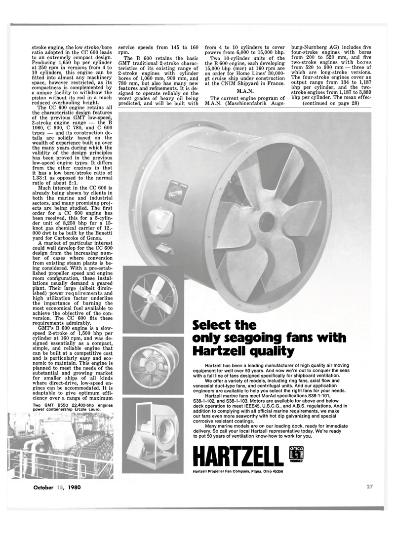 Maritime Reporter Magazine, page 27,  Oct 15, 1980 air moving equipment