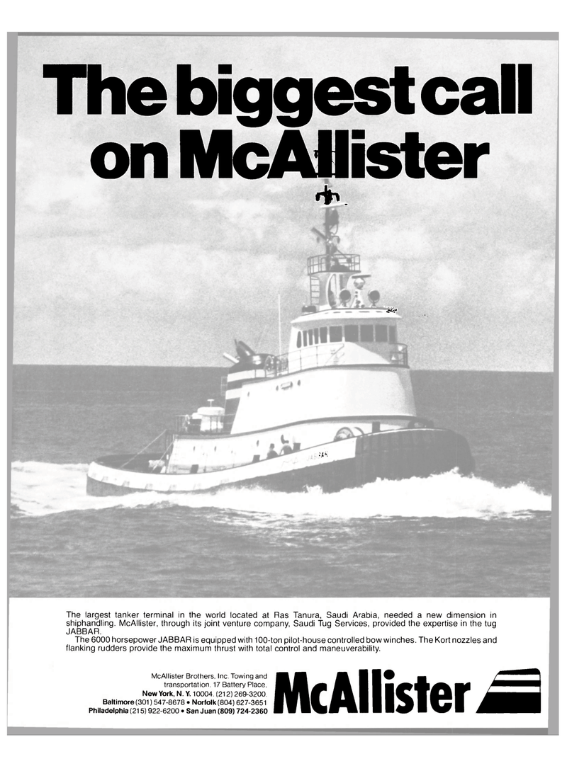 Maritime Reporter Magazine, page 1,  Oct 15, 1980 Saudi Tug Services