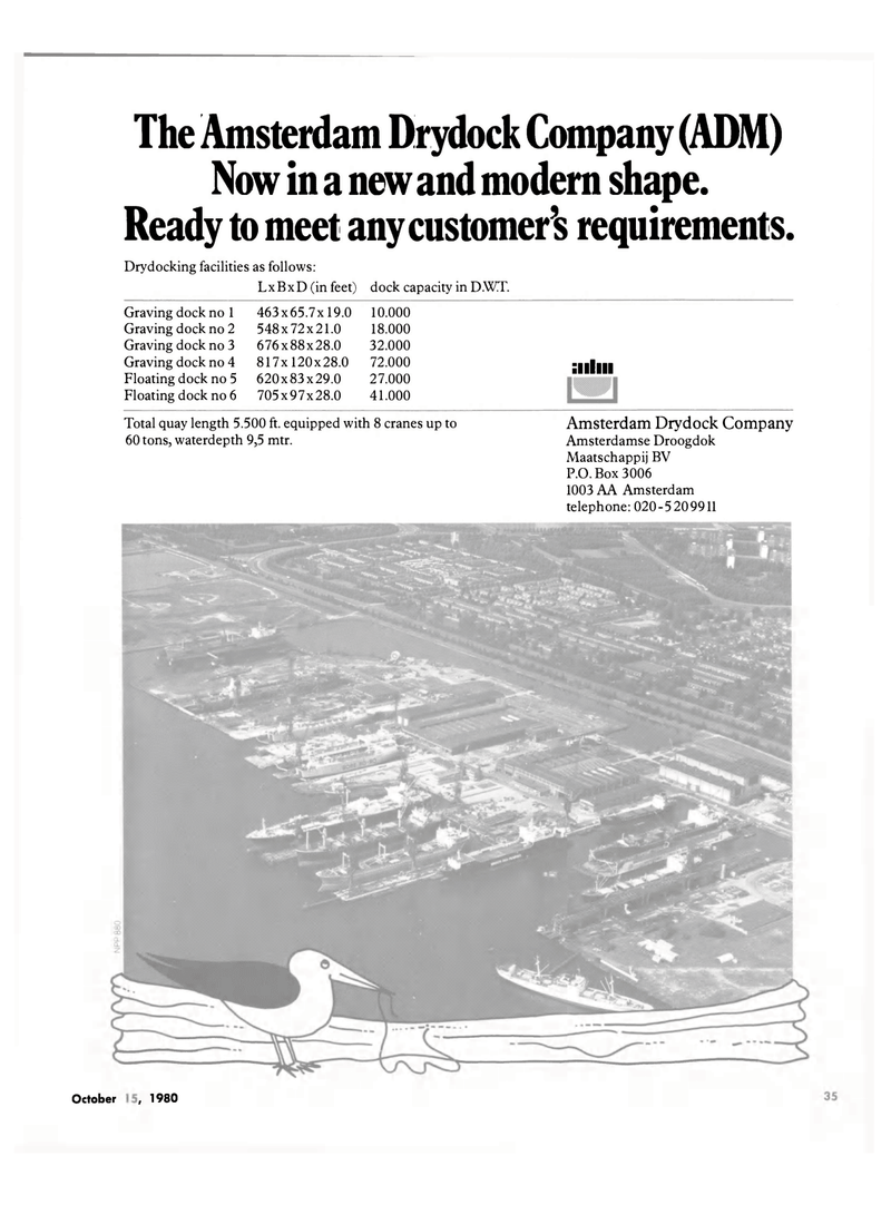 Maritime Reporter Magazine, page 35,  Oct 15, 1980