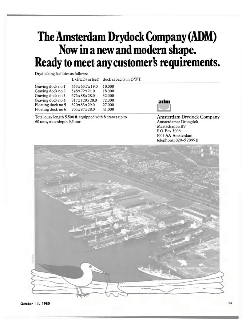 Maritime Reporter Magazine, page 37,  Oct 15, 1980 Amsterdam Drydock Company