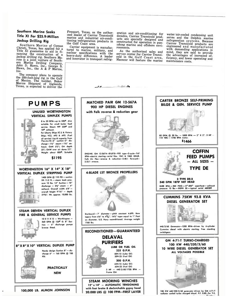 Maritime Reporter Magazine, page 44,  Oct 15, 1980 BLADE LST BRONZE PROPELLERS