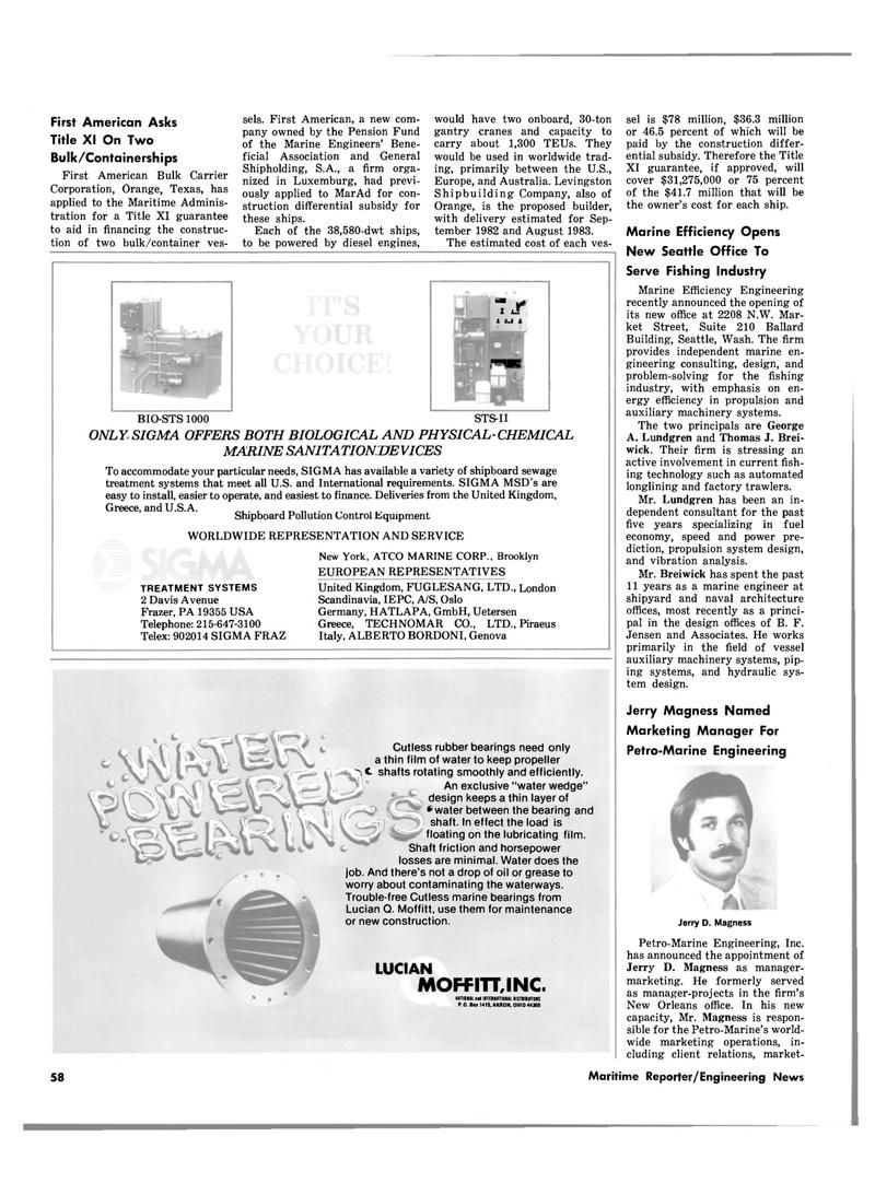 Maritime Reporter Magazine, page 58,  Oct 15, 1980 Scandinavia