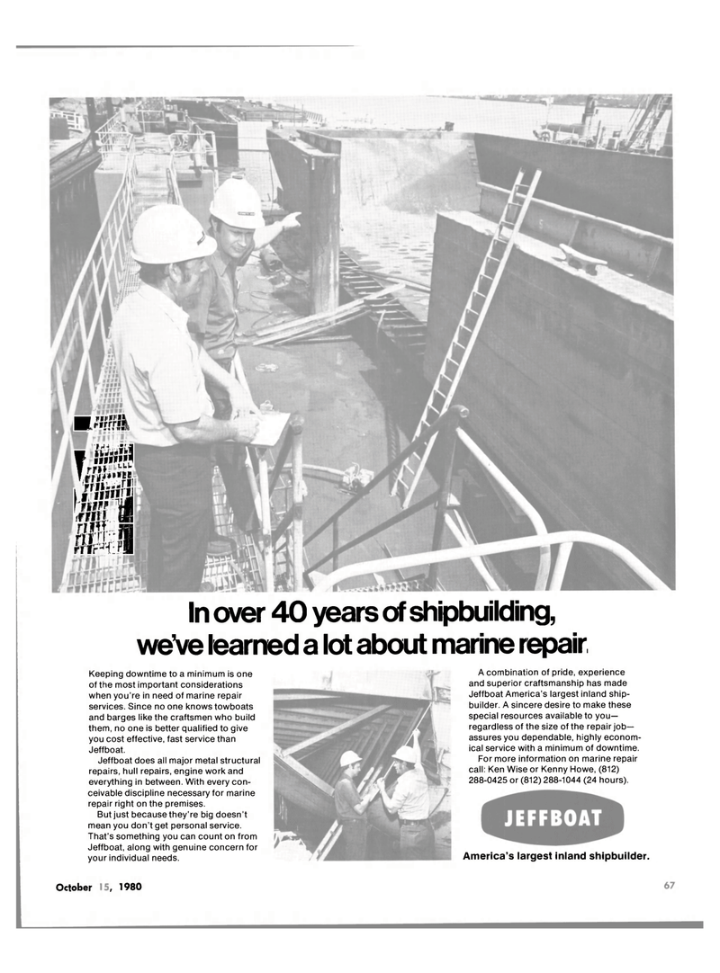 Maritime Reporter Magazine, page 4th Cover,  Oct 15, 1980 metal structural repairs
