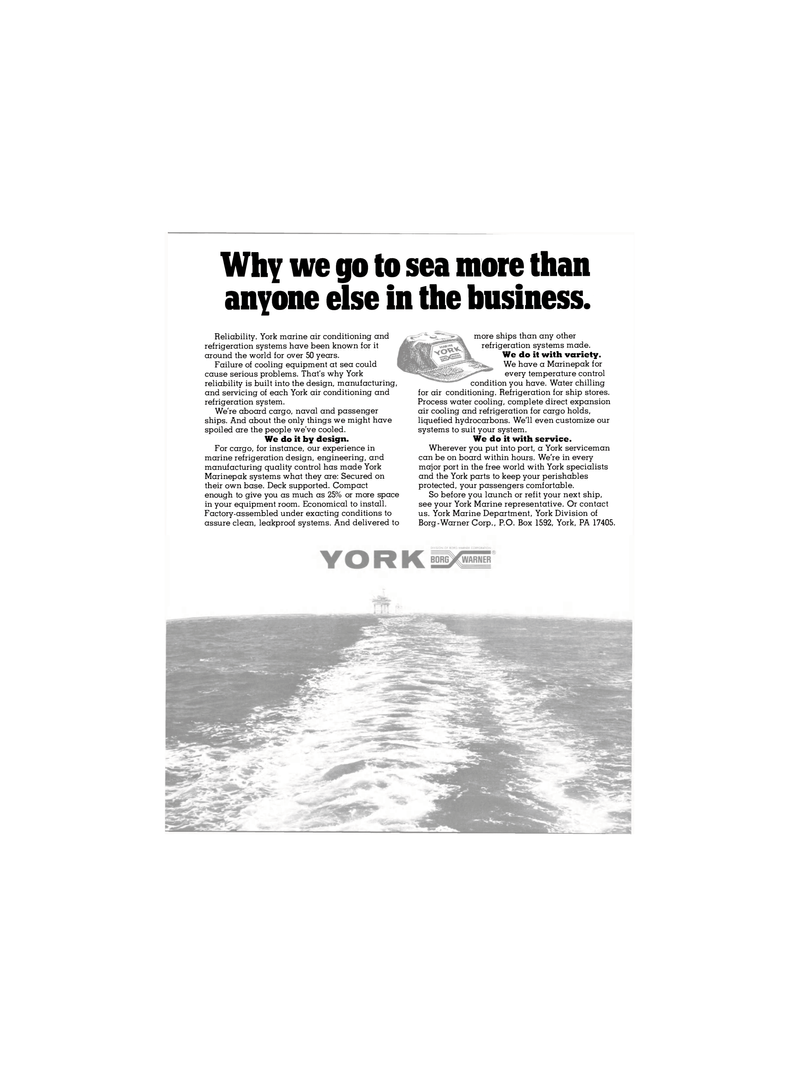 Maritime Reporter Magazine, page 12,  Nov 1980 York Marine Department